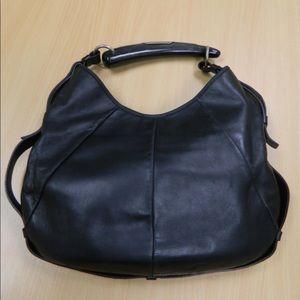 YSL Black Leather Mombasa Shoulder Bag